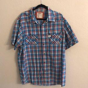 Rocawear plaid button shirt, 3XL